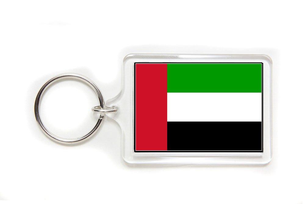 United Arab Emirates UAE Flag Double Sided Acrylic Key Ring Small