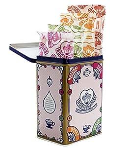 Rooibos Tea Sampler Tin, 4 Flavors Caffeine-Free, 40 Organic Tagless Herbal Tea Bags, By Rooibos Rocks