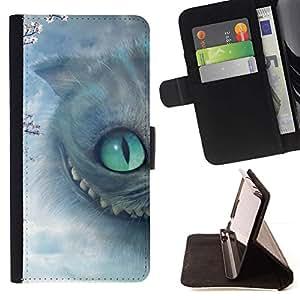 Momo Phone Case / Flip Funda de Cuero Case Cover - Gato de Halloween Gatito gris de ojos - Sony Xperia Style T3