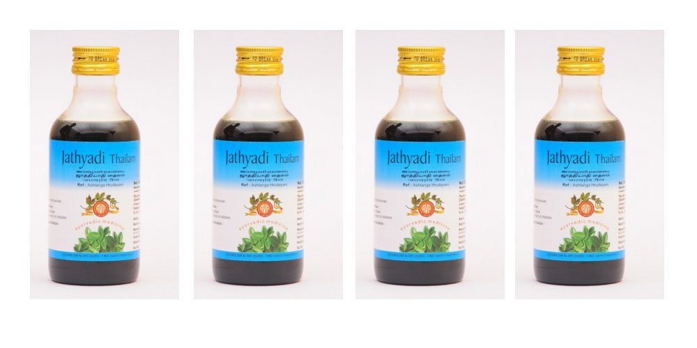 4 x Jathyadi Thailam by AVP - 200ml (Pack of 4)