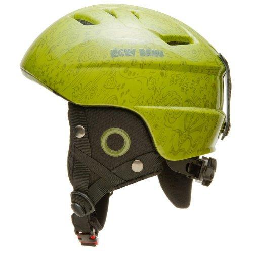 Lucky Bums Kid's Alpine Series Doodlebug Helmet, Grass, Med/Large (50-52cm) - Lucky Bums Snowboard Helmet