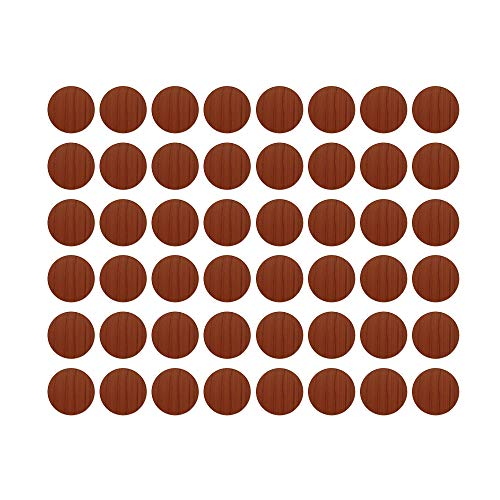 MyLifeUNIT Home Office Screw Holes Cover Caps Stickers (1 Sheet 54 Caps) (Cherry Wood)