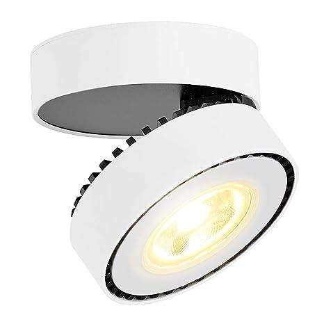 LANBOS 12W Lámpara de techo LED,Foco LED para techo y pared, Focos para el techo,Lámpara de pared,Plafón con Focos,luz blanca cálida, 3000K, IP20, ...