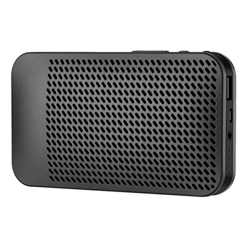 HAHAP Bluetooth Speakers Wireless Portable Speaker,HD Sound and Bass, Built-in Mic, Line-in,30 Hrs Playtime,Compatible for iPhone, Samsung,Handsfree/Phone/TF Card/Supported ()