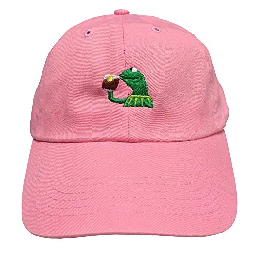 b4f9a4292f1 Beged Design Tea Lizard None of My Business Strapback Hat Sipping Tea Meme  Adjustable Cap - Buy Online in UAE.