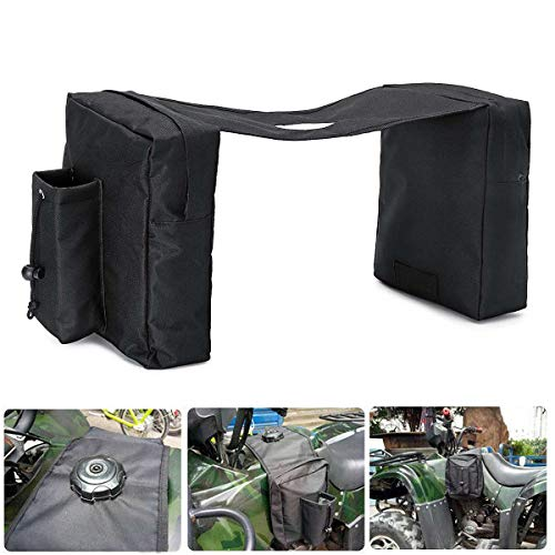 New Saddlebag - SOMITI | Leather & Saddle Bags | New Waterproof ATV Snowmobile Accessory Tank SaddleBag Motorcycle Saddle Bags Water Bottle Black Oxford Cloth Protective Gears