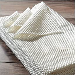Area Rug Pad Non Skid Slip Underlay Nonslip Rug Pad for Rugs On Hard Surface Floors Soft Rug,Living Room, Dining Room Synthetic Rubber (8x10)