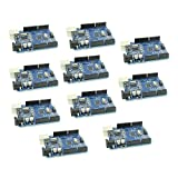 10pcs Compatible with Arduino UNO R3 Board with ATmega328P and CH340 for Arduino IDE by Optimus Electric