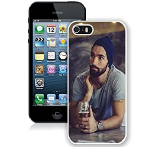 Personalized Phone Case Design with Hot Bearded Guy Crazy Moustache iPhone 5s Wallpaper in White