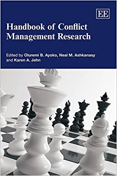 Book Handbook of Conflict Management Research (Research Handbooks in Business and Management series)