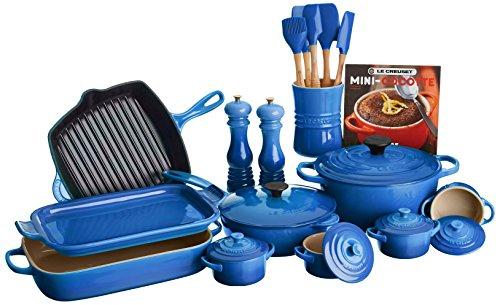 Le Creuset of America 20 Piece Cookware Set, ()