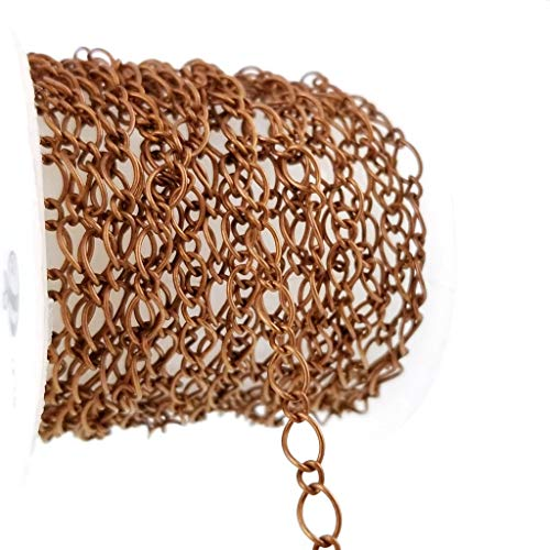Antique Copper Figaro Link Chain Spool for Jewelry Making - Nickel Free (4 x 5.5mm) ()