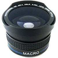 Zeikos ZE-3437F 37mm 0.40x high definition Fisheye lens with Macro attachment, includes lens pouch and cap covers (Life Time Warranty) Overview Review Image