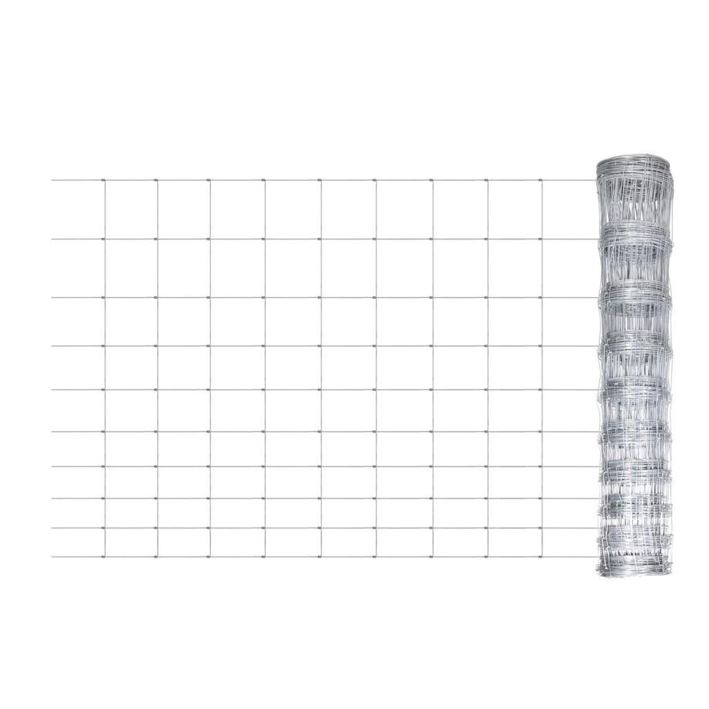 vidaXL Grillage Clôture de jardin terrasse galvanisée en rouleaux à mailles 120/10/15 15527