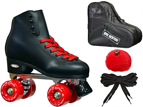 New! Epic Classic Black & Red High-Top Quad Roller Skate ...
