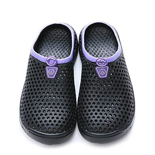 Sandals Slippers Clogs Shoes Aiffany Black Unisex Garden Purple wqaxgFX