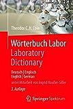 Wörterbuch Labor / Laboratory Dictionary: Deutsch/Englisch - English/German (German Edition)
