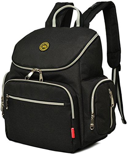 kvbaby bebé pañal Mochila bolsa de pañales con cambiador, 6colores morado morado negro