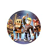 7 inch Sandbox Game Party Plates for Roblox Game