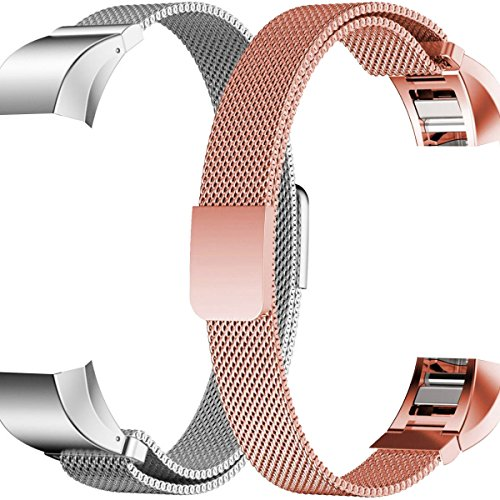 HUMENN Fitbit Replacement Milanese Stainless