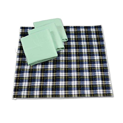 NorthShore Champion, 33 x 35, 22 oz, Washable Underpad, Tartan Plaid, Pack/4