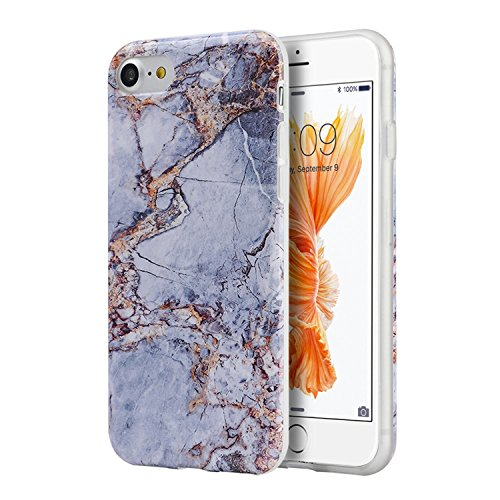 iPhone 8 / 7 Case, Insten [Marble Pattern] Ultra Slim Lightwight Soft TPU Rubber Candy Skin Anti Slip Case Cover For Apple iPhone 8 / 7 2016 (4.7