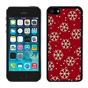 Custom-ized Phone Case Iphone 5C TPU Case Christmas Snowflake Black iPhone 5C Case 8 by Maris's Diary