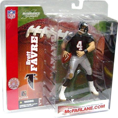 McFarlane Toys NFL Sports Picks Series 6 Action Figure Brett Favre (Atlanta Falcons) Retro Black Jersey Without Handwarmers by McFarlane Toys