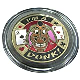 MRC Poker Hand Painted Poker Card Guard Cover Protector - I'm a Donk