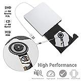 External CD/DVD Drive for Laptop,MMUSC USB Portable CD DVD Burner Writer Drive Player, High Speed Data Transfer for Desktop/Macbook/Mac OS/Windows10/8/7/XP/Vista
