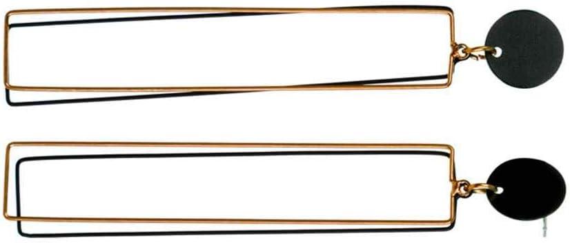 Kakiyi Le Donne Lungo rettangolo Ciondolo placcatura Orecchini Orecchini Ragazze Geometrica Lega Eardrops Astratta Gioielli Orecchio Stud