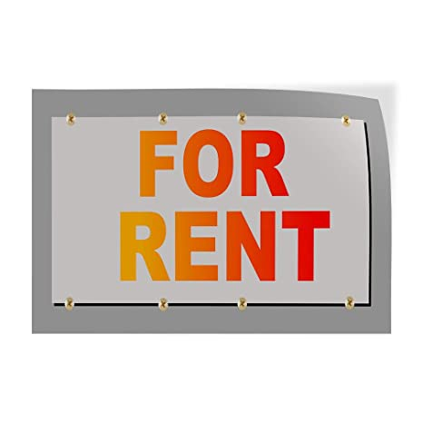 Set of 10 14inx10in Decal Sticker Multiple Sizes for Rent Business for Rent Outdoor Store Sign Orange