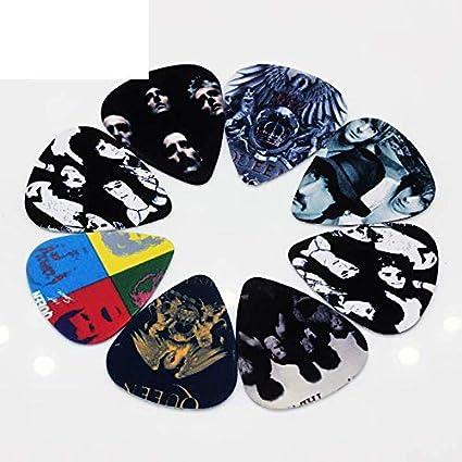 50 púas de 0,71 mm, diseño de banda de rock Queen, púas de ...