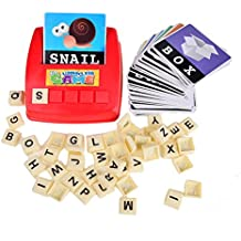 BOHS Alphabet Letters Word Cards English ABC Builder- Literacy Fun Game - Preschool Toddler Children Language Learning Educational Toys