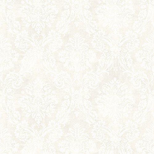 Chesapeake MEA79156 Kent Ivory Garden Damask Wallpaper