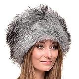 Futrzane Russian Faux Fur Hat for Women - Like Real Fur - Comfy Cossack Style