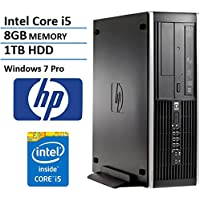 HP Elite 8200 Business Desktop Computer (Intel i5 Quad Core up to 3.4GHz Processor), 8GB DDR3 RAM, 1TB HDD, DVD, RJ45, Windows 7 Professional (Certified Refurbished)