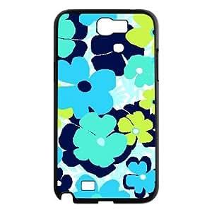 Blue Flowers Custom Cover Case for Samsung Galaxy Note 2 N7100,diy phone case ygtg611975