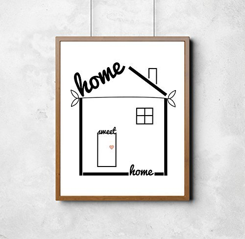 'Home Sweet Home' Print. Housewarming Gift, Stylish Home Decor, Wall Art, Print.