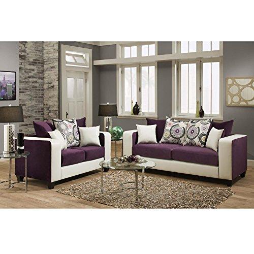 Flash Furniture Riverstone Implosion Purple Velvet Living Room Set Review