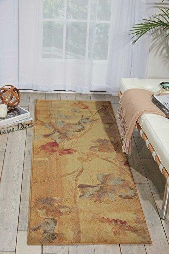 (Nourison Somerset (ST18) Beige Runner Area Rug, 2-Feet by 5-Feet 9-Inches (2' x 5'9