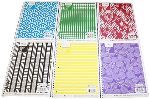Mead Notebooks Subject Assorted Notebook