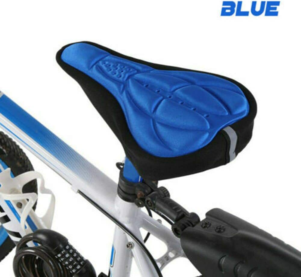 Bike Seat Cover SUNWAN 3D Gel Soft Bicycle Saddle Cushion Indoor Cycling for Men Women
