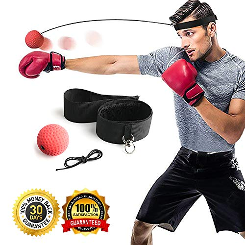 Gdaytao Boxing Ball Reflex with Headband, 2 Training Speed Ranges, Great Fight Trainer on String, Perfect for Improving Speed Reactions, Agility, Punching Speed and Hand Eye Coordination – DiZiSports Store