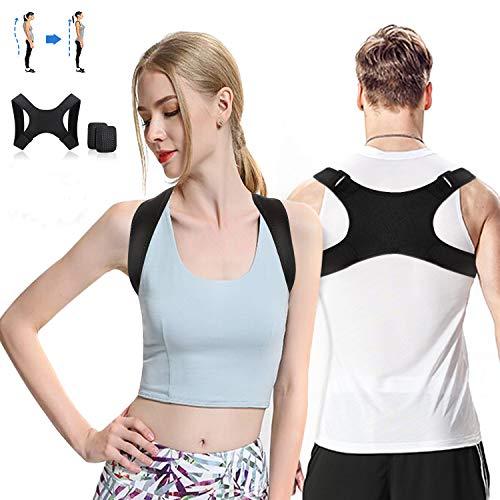 Back Posture Corrector for Women & Men Adjustable,Comfortable Upper Back Brace Improving Kyphosis,Slouching& Hunching Posture-Relief Back & Shoulders Pain