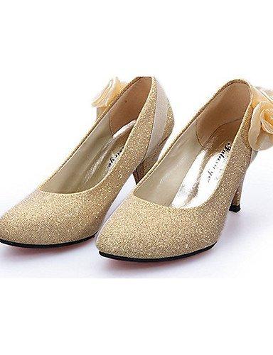 GGX/ Damenschuhe-High Heels-Lässig-PU-Stöckelabsatz-Absätze-Rot / Silber / Gold golden-us8 / eu39 / uk6 / cn39