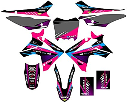Senge Graphics Kit Compatible with Honda 2013-2018 CRF 110 Surge Pink Graphics kit