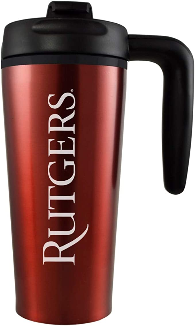 Rutgers Scarlet Knights Travel Mug 16 Oz with Slider top
