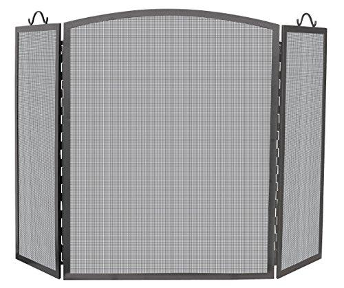 UniFlame 3 Panel Olde World Iron Arch Top Screen, Medium