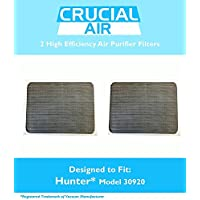 2 Hunter 30920 Air Purifier Filters, Fits Hunter Models: 30050, 30055, 30065, 37065, 30075, 30080 & 30177, Designed & Engineered by Crucial Air